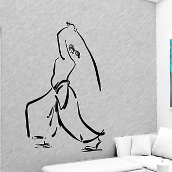 SAMURAI JAPANESE WARRIOR NINJA SWORD WALL STICKER DECALS ART MURAL VINYL  D74