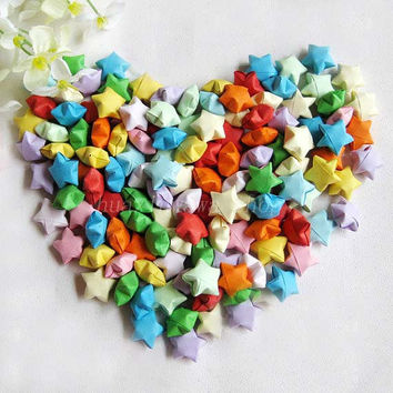 1000pcs-Wedding colorful Handmade Origami lucky star Gift party birthdays Wishes Friend valentine's OR adorn colorful room
