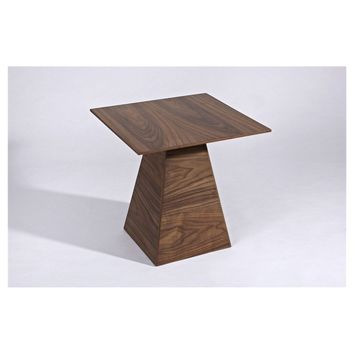 "Modern Scandinavian Square Top Walnut ""Teemu"" Side Table"