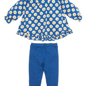 Infant Girl's Masalababy 'Elsa' Heart Print Tunic & Leggings
