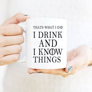 That'S What I Do I Drink And I Know Things Mug Tyrion Lannister Game Of Thrones Coffee Mugs Tea Cups Porcelain Wine Beer Drinkwa