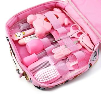 13pcs/Set Multifunction Newborn Baby Kids Nail Hair Health Care Thermometer Grooming Brush Kit Healthcare Accessories