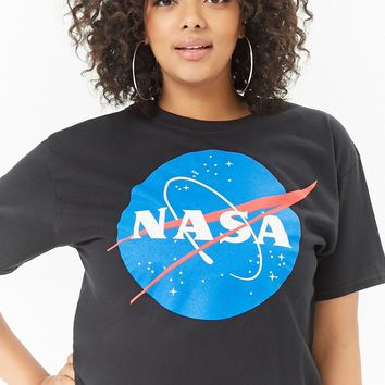 Plus Size NASA Graphic Cropped Tee