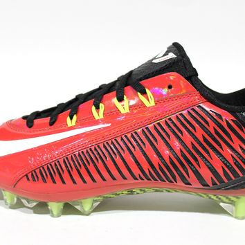 Nike Men's Vapor Carbon Elite 2014 TD Red/Black Football Cleats 631425 600