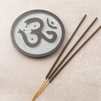 Stone Om Incense Plate