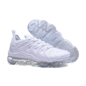 2018 Nike Air VaporMax Plus TN Triple White Sport Running Shoes - Best Online Sale