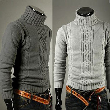 High Neck Design Sweater