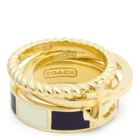 Coach :: Anchor Stripe Stacking Ring