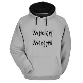 mischief managed Hoodie Sweatshirt Sweater Shirt Gray and beauty variant color for Unisex size