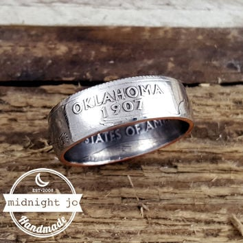 Oklahoma State Quarter Coin Ring