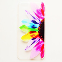 iPhone 6 Case Cover Rainbow Flower iPhone 6 Hard Case Colorful Design Back Cover For iPhone 6 Slim Design Case