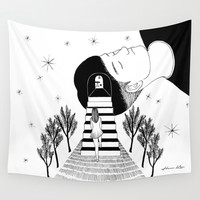 Into your dream Wall Tapestry by Henn Kim | Society6
