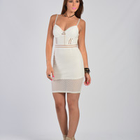 Wired Up Dress – White