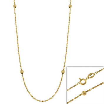 """14k Gold Filled Italian Twisted Serpentine Beaded Chain Necklace 16"""""""" 18"""""""" 20"""""""" 24"""""""""""