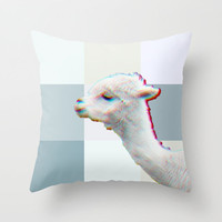LAMA Throw Pillow by M✿nika  Strigel	NEW CUTE Pillow in 3 SIZES  other animals available!