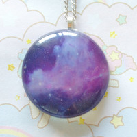 Galaxy Necklace Purple by GeekSugarPuffs on Etsy