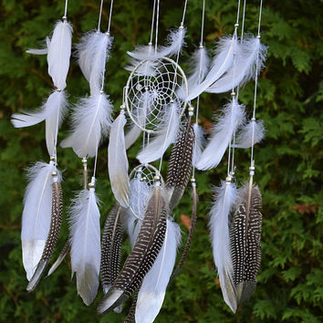 Boho Nursery Dreamcatcher Mobile, Woodland Nursery  Baby Mobile, Silver Gray Nursery Decor, Woodland Shower Gift