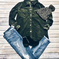 The Button Up Olive