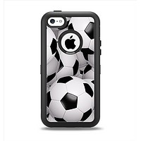 The Soccer Ball Overlay Apple iPhone 5c Otterbox Defender Case Skin Set