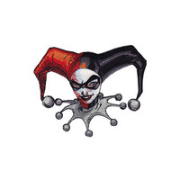 Harley Quinn Head Shot Iron-On Patch