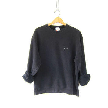 vintage NIKE sweatshirt. faded washed out black sweatshirt. slouchy sweatshirt ATHLETICS Sports Sporty Prep school workout top