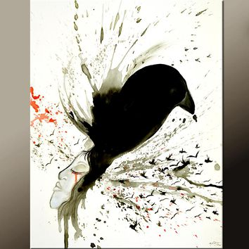 Abstract Print 11x14 Contemporary Wall Art Giclee by Destiny Womack - dWo - If I were a Bird