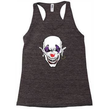 evil clown Racerback Tank