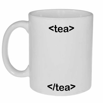 HTML Tea Mug for Programmers, Web Designers and Internet Surfers