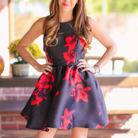 What a Blast Dress - Black and Red