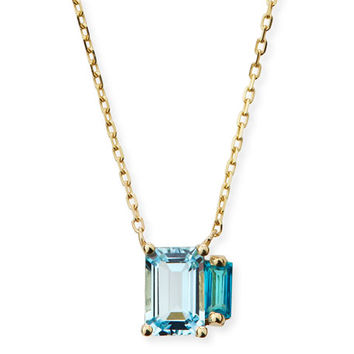 KALAN by Suzanne Kalan 14k Multi Blue Topaz Pendant Necklace