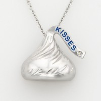 Rhodium-Plated Sterling Silver Diamond Accent Hershey's Kiss Pendant