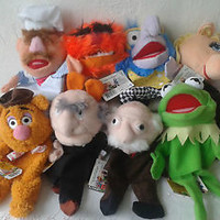 Rare Muppets complete set of hand puppets dolls with tags