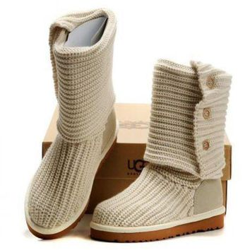 PEAP2Q ugg women fashion knit knitted wool snow boots