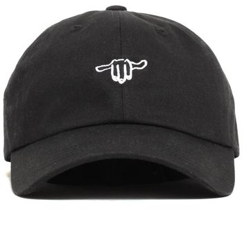 Hand Logo / Stay Gracious Dad Hat Black