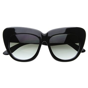 Celebrity Fashion Oversize Cat Eye Sunglasses 8300