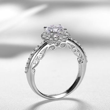 1.00+0.42ct Luxury GIA Diamond Ring for Women Handmade Engagement Wedding Band Natural GIA Diamond Jewelry