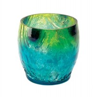 Small Mediterranean Splash Candle Holder