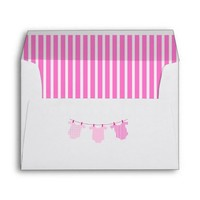 Personalized Baby Shower Envelope Tickled Pink