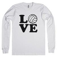 Love Volleyball-Unisex White T-Shirt