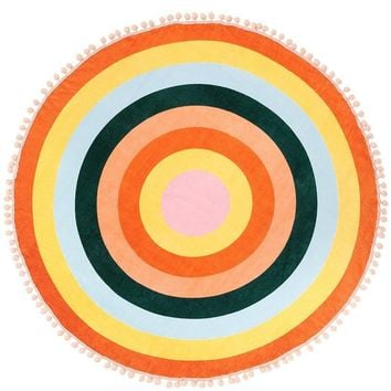 Color Wheel Around Giant Circle Towel by Bando
