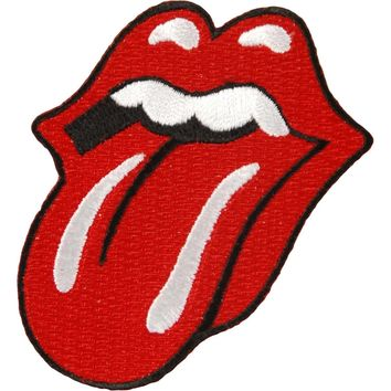 Rolling Stones Men's Tongue Logo Patch Embroidered Patch Black