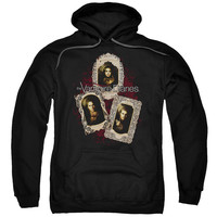 VAMPIRE DIARIES/HOLY CARDS-ADULT PULL-OVER HOODIE-BLACK-LG