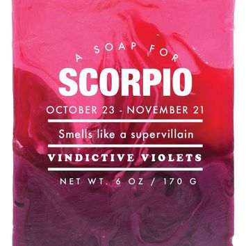 Scorpio Vindictive Violets Scented Soap - Smells Like a Supervillain