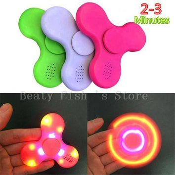 ESBON5 Original LED Light Bluetooth Speaker Music Spinner EDC Hand Spinner With USB Charge Cable For Autism Kids/Adult Mini Speakers