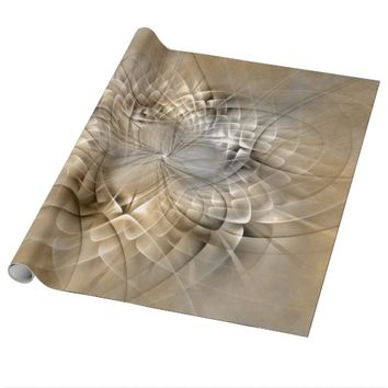 Earth Tones Abstract Modern Fractal Art Texture Wrapping Paper