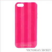 Victoria Secret hot pink and light pink stripped cover for iPhone 5 5s