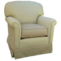 Angel Song 201821150Down Monaco Vanilla Adult Continental Glider Rocker w/ Plush Down Cushion