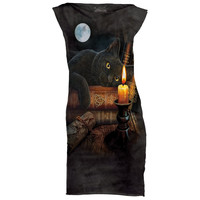THE WITCHING HOUR Womens Mini Dress Black Cat Magic Witchcraft Witch S M L NEW!