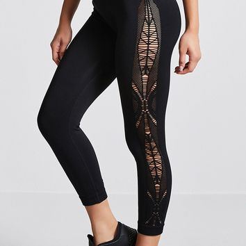 Active Ornate-Cutout Leggings
