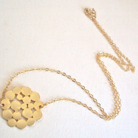 Gold Cloud Pendant necklace - gold filled chain - gold charm